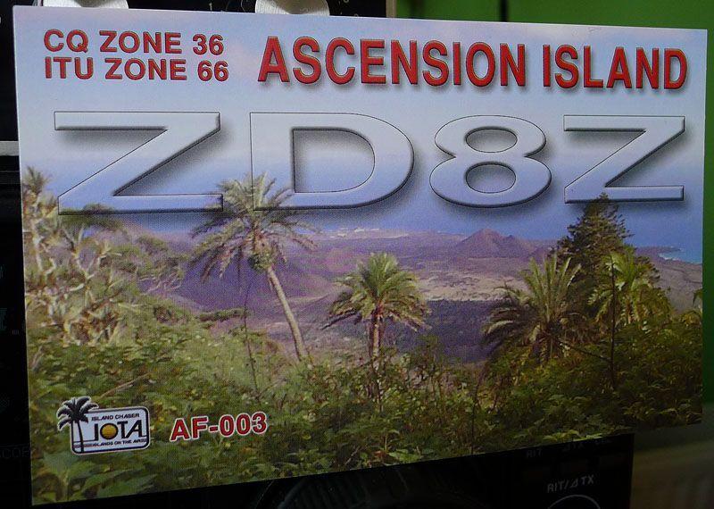 Остров Вознесения ZD8Z QSL 1