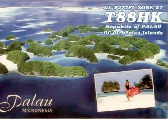 Koror Island T88HK QSL Palau