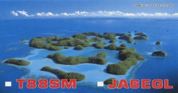 Palau Koror Island T88SM QSL