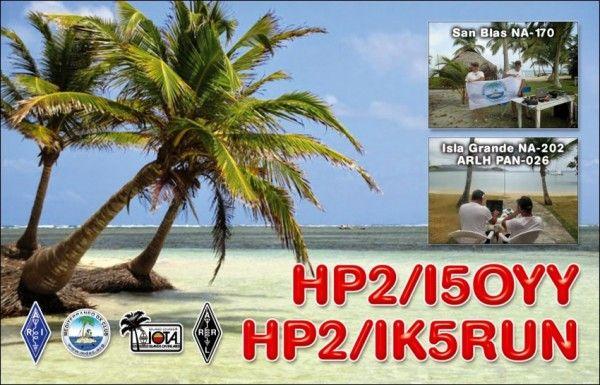 Panama HP2/I5OYY HP2/IK5RUN QSL