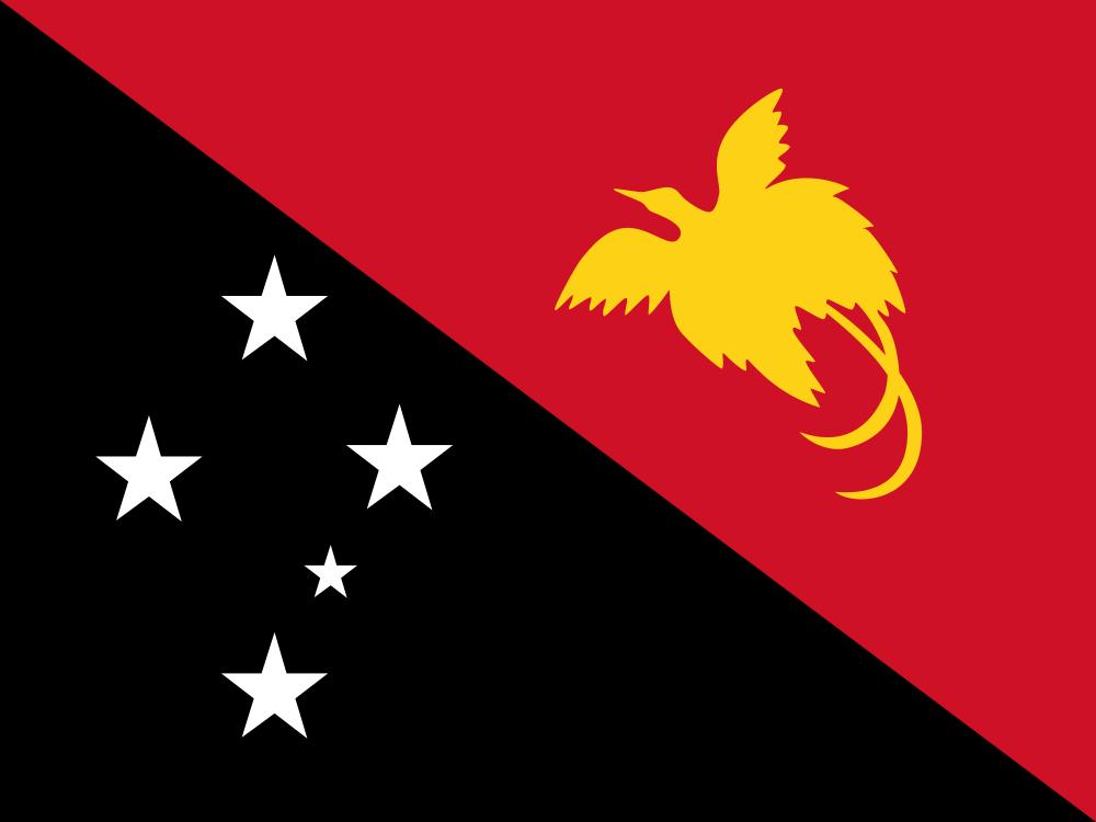 Папуа Новая Гвинея Флаг Папуа Новой Гвинеи