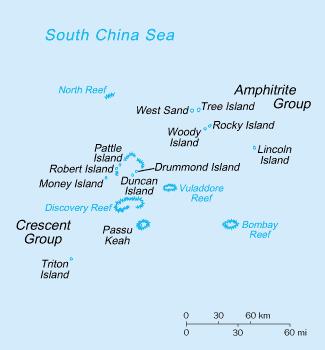 Paracel Islands Map