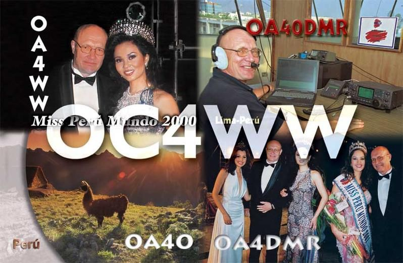 Перу OC4WW QSL
