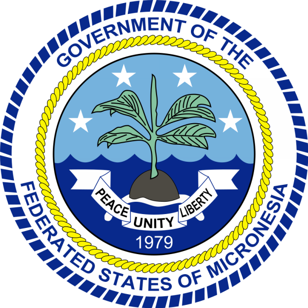 Pohnpei Island Coat of Arms of Federal States of Micronesia V650XG
