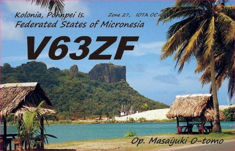 Остров Понпеи Каролинские острова V63ZF QSL