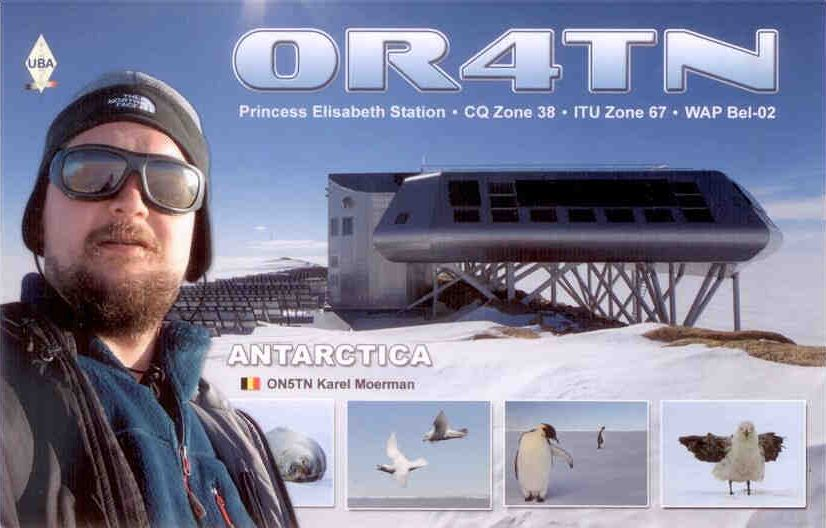 Princess Elizabeth Station Antarctica OR4TN QSL