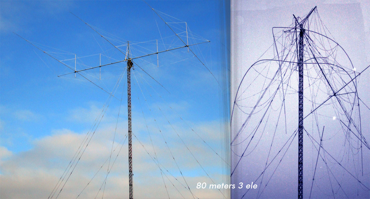 RD3A 3 элемента яги RW1AC 80 метров