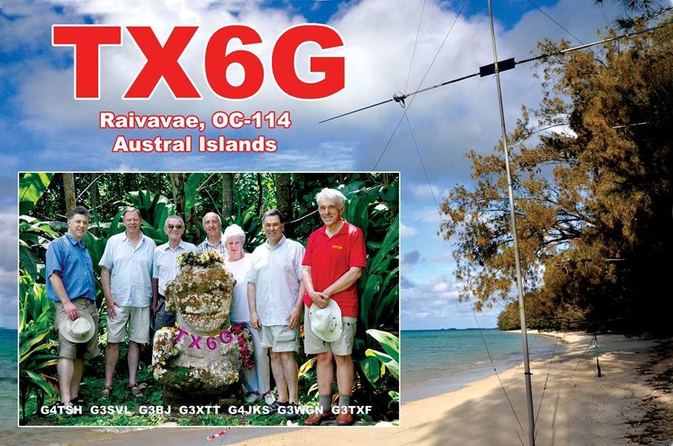 Raivavae Island Austral Islands TX6G QSL