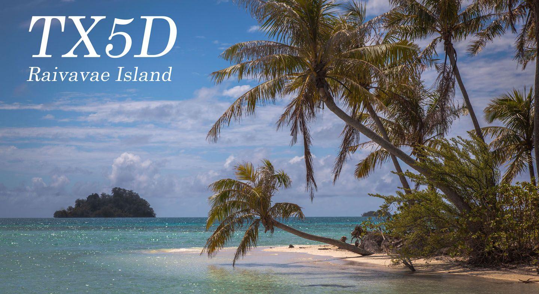 Raivavae Island TX5Z 2014 Austral Islands