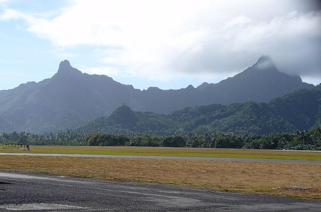 Остров Раротонга Острова Кука E51CGJ Аэропорт