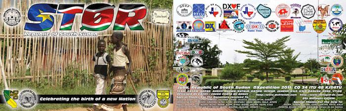 Республика Южный Судан ST0R QSL