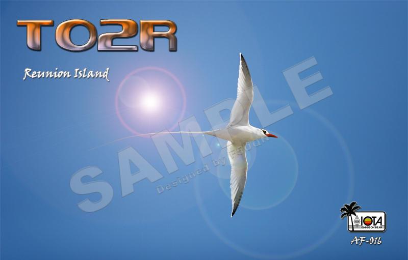 Reunion Island TO2R 2013 QSL Card