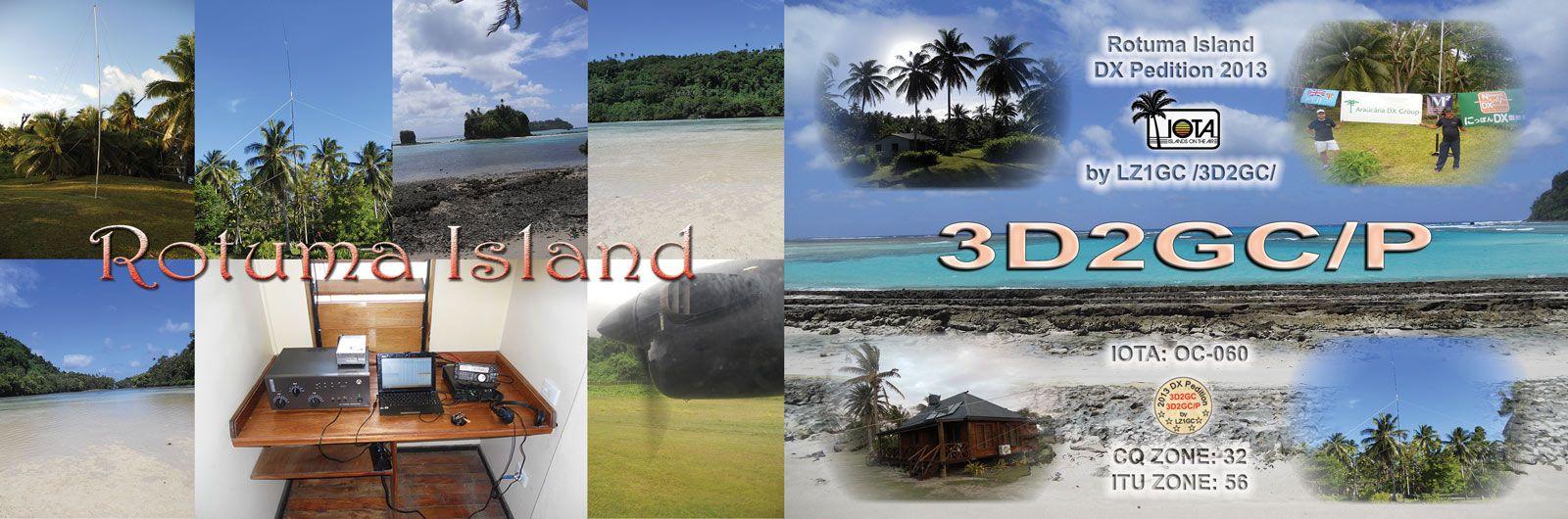 Остров Ротума 3D2GC/P QSL 1