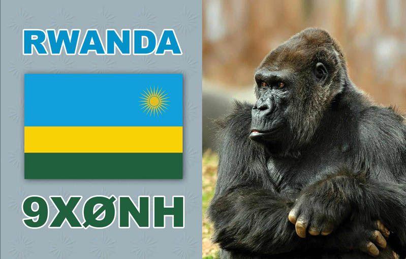 Rwanda 9X0NH QSL 2014