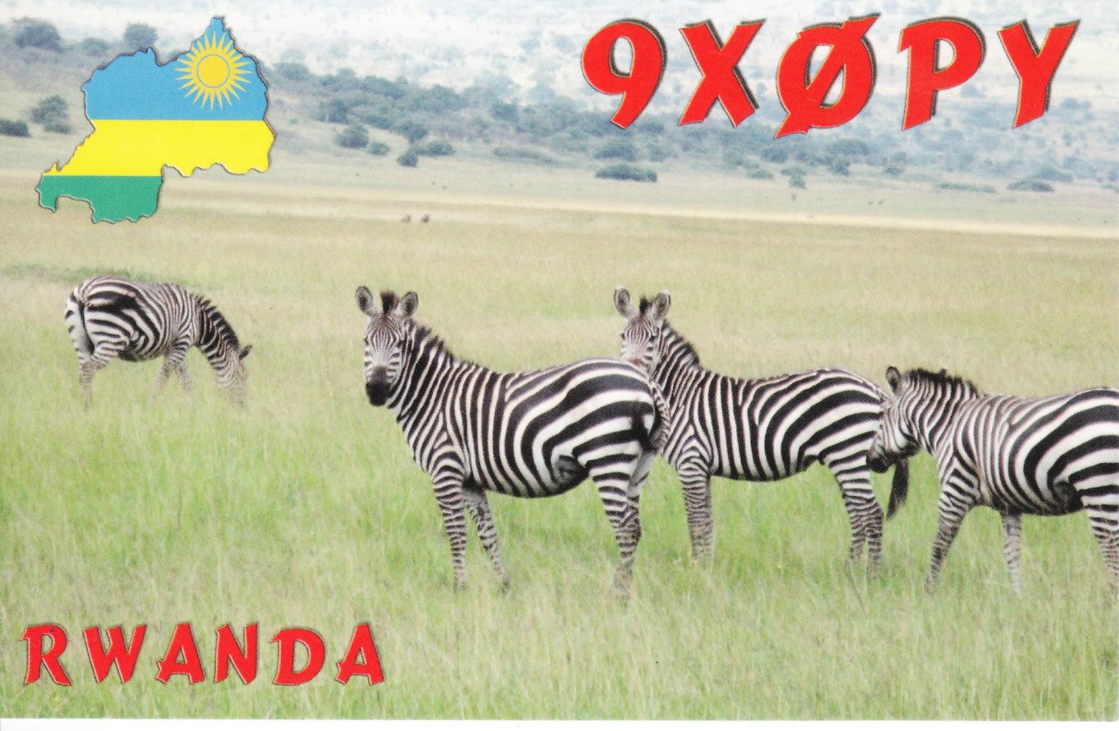 Rwanda 9X0PY QSL