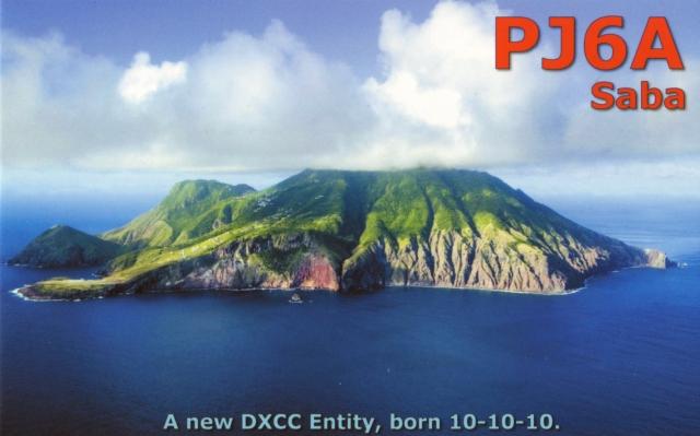 Saba Island PJ6A QSL