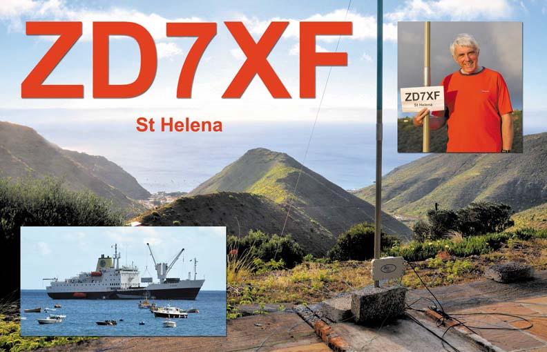 Saint Helena Island ZD7XF QSL St Helena