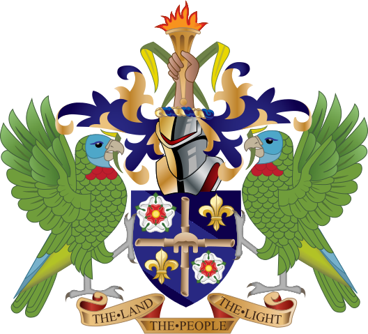 Saint Lucia Island Coat of Arms