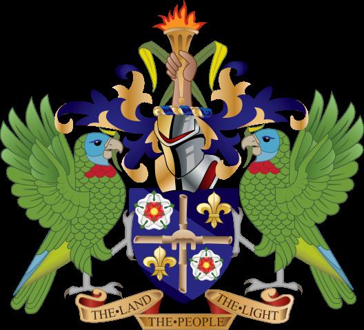 Saint Lucia Island Coat of Arms