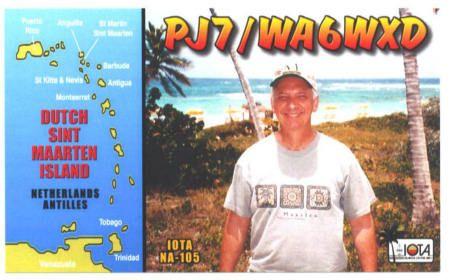 Sint Maarten Island PJ7/WA6WXD QSL