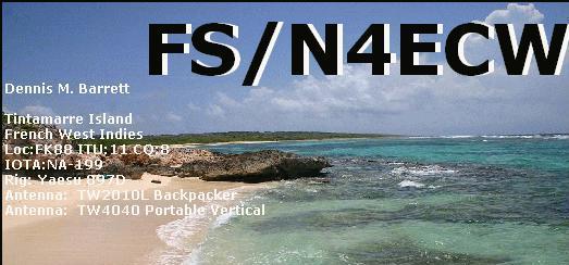 Остров Святого Мартина FS/N4ECW