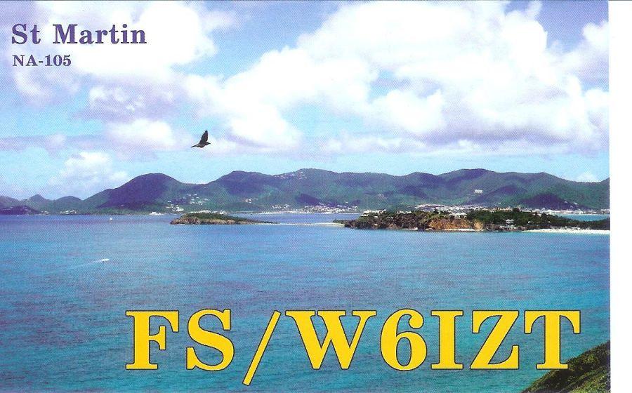 Saint Martin Island FS/W6IZT QSL