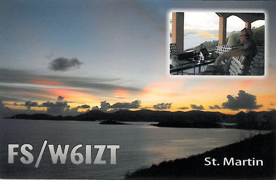 Saint Martin Island FS/W6IZT QSL 2