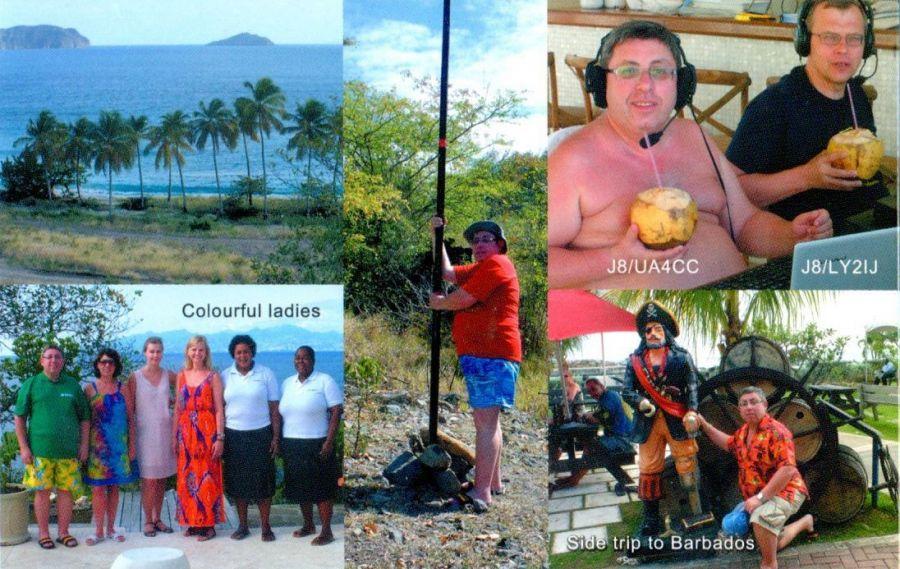 Saint Vincent and Grenadines J8/UA4CC QSL 3