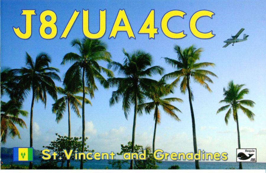 Saint Vincent and Grenadines J8/UA4CC QSL -1
