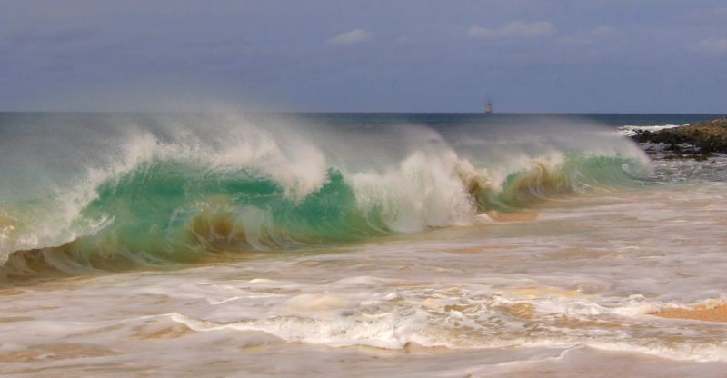 Остров Сал Кабо Верде Острова Зеленого Мыса D44TXU Волны Пляж