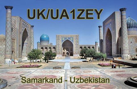 Samarkand Uzbekistan UK/UA1ZEY QSL