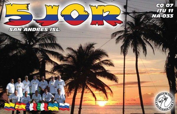 San Andres Island 5J0R QSL