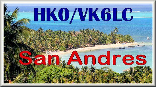 Остров Сан Андрес HK0/VK6LC