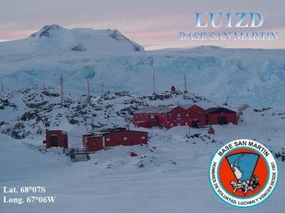 Станция Сан Мартин Остров Барри Антарктида LU1ZD