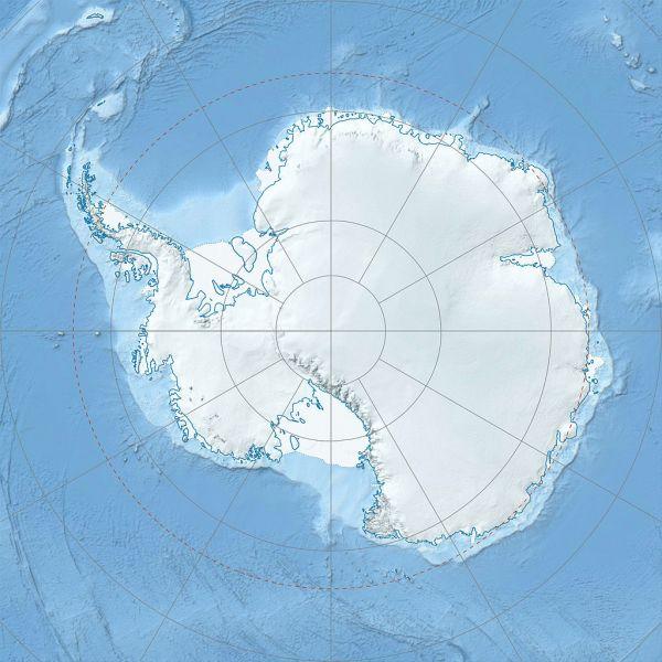 Станция Сан Мартин Остров Барри Антарктида LU1ZD Карта