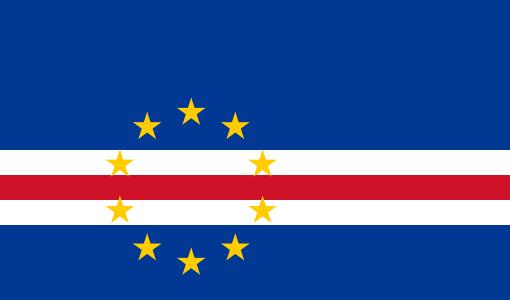 Остров Сантьягу Кабо Верде Острова Зеленого Мыса D44TEG Флаг