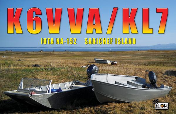 Sarichef Island K6VVA/KL7 QSL