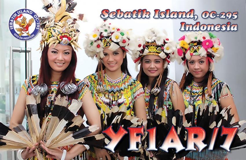 Остров Себатик YF1AR/7 QSL