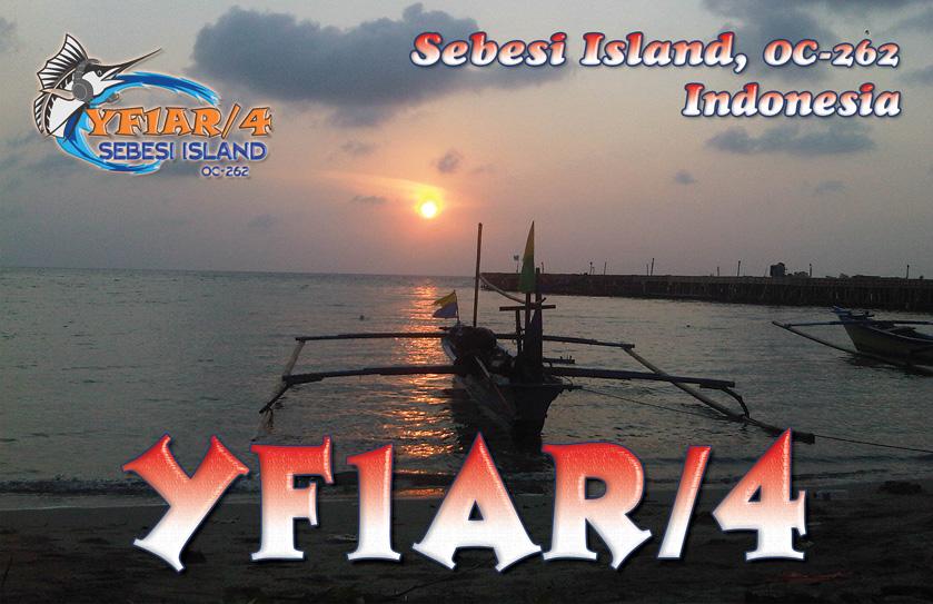 Остров Себиси YF1AR/4 QSL