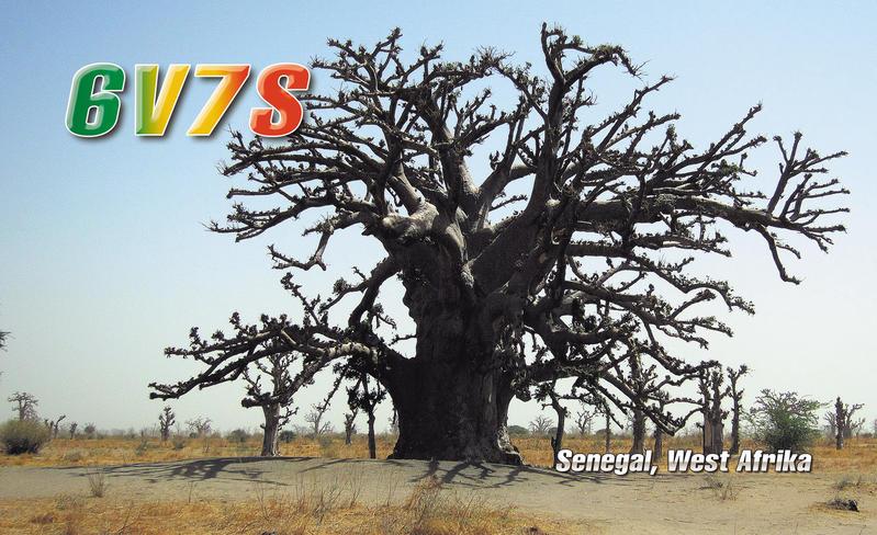 Senegal 6V7S 2013 QSL 2