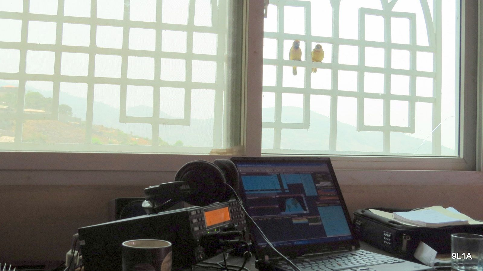 Sierra Leone 9L1A News Radio Room