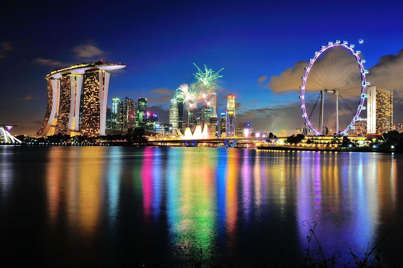 Сингапур 9V1KK Залив Марина День Независимости 2012