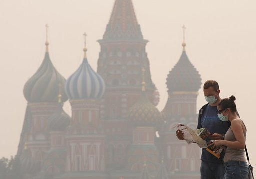 Smog Moscow 4 August 2010 Red Square
