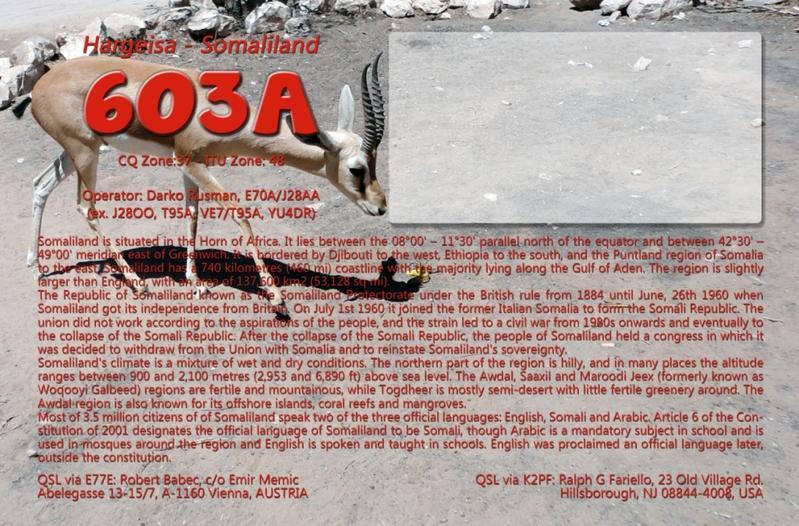 Somaliland 6O3A QSL small rear