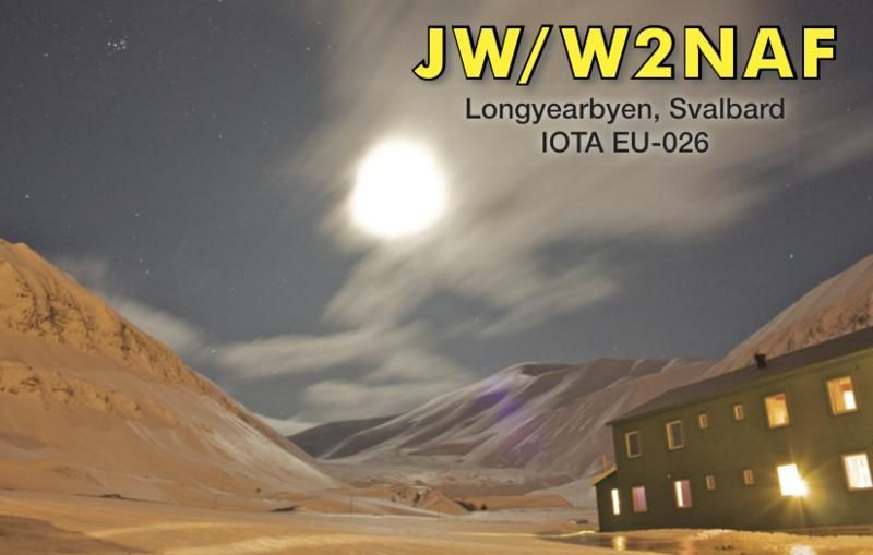 Шпицберген JW/W2NAF QSL