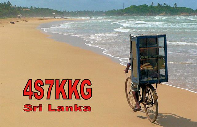 Шри Ланка 4S7KKG QSL