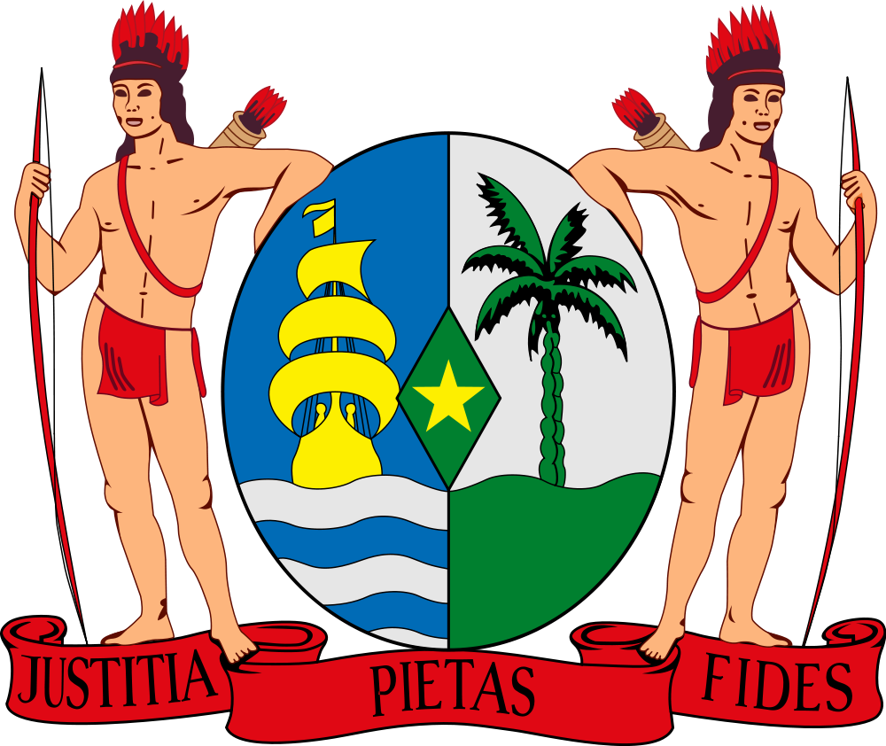 Suriname Coat of Arms of Suriname PZ5AB