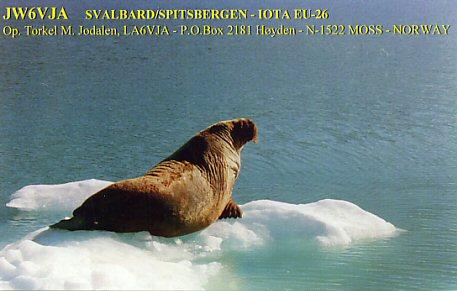 Svalbard Islands JW6VJA QSL