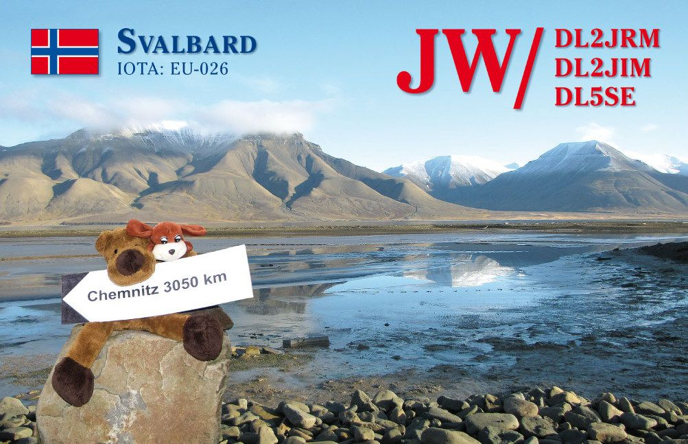 Svalbard Archipelago JW/DL2JRM QSL