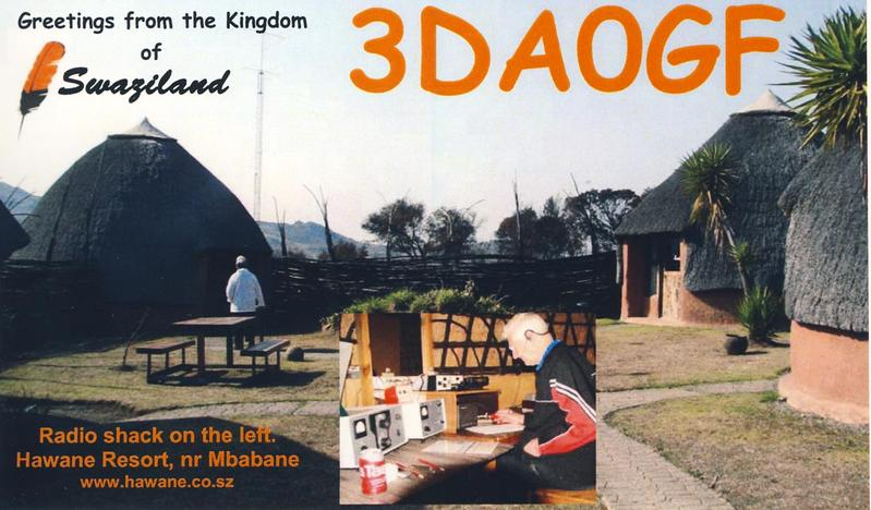 Swaziland 3DA0GF QSL Card